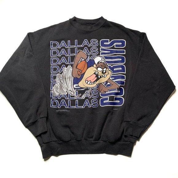 Dallas Cowboys Looney Tunes Crewneck Sweatshirt L